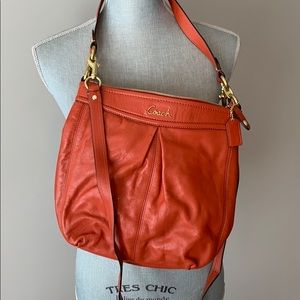 Coach orange crossbody bag